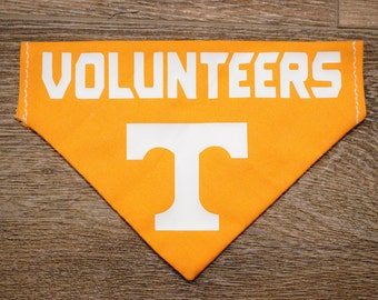 Handmade Custom University of Tennessee Vols Volunteers Over the Collar & Tie Dog Bandana