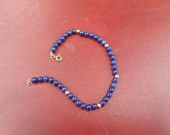 Vintage Lapis Lazuli 14K Gold Bracelet