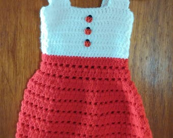 Ladybug dress 3-6 months