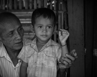 Portrait, Koh Rong, Cambodia - Print Photograph/Black and White/People/Travel Photography/Wall Art/Home Decor