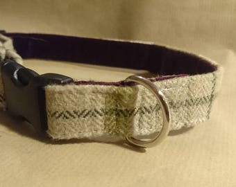 Cotswold Chic Plaid dog collar