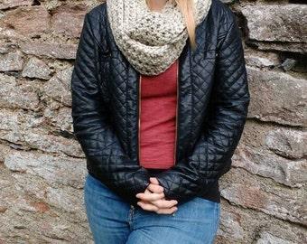 Ladies crochet super chunky infinity scarf