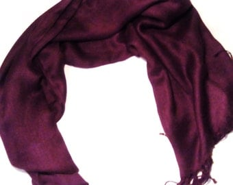 Cashmere scarf pashmina / rosewood red