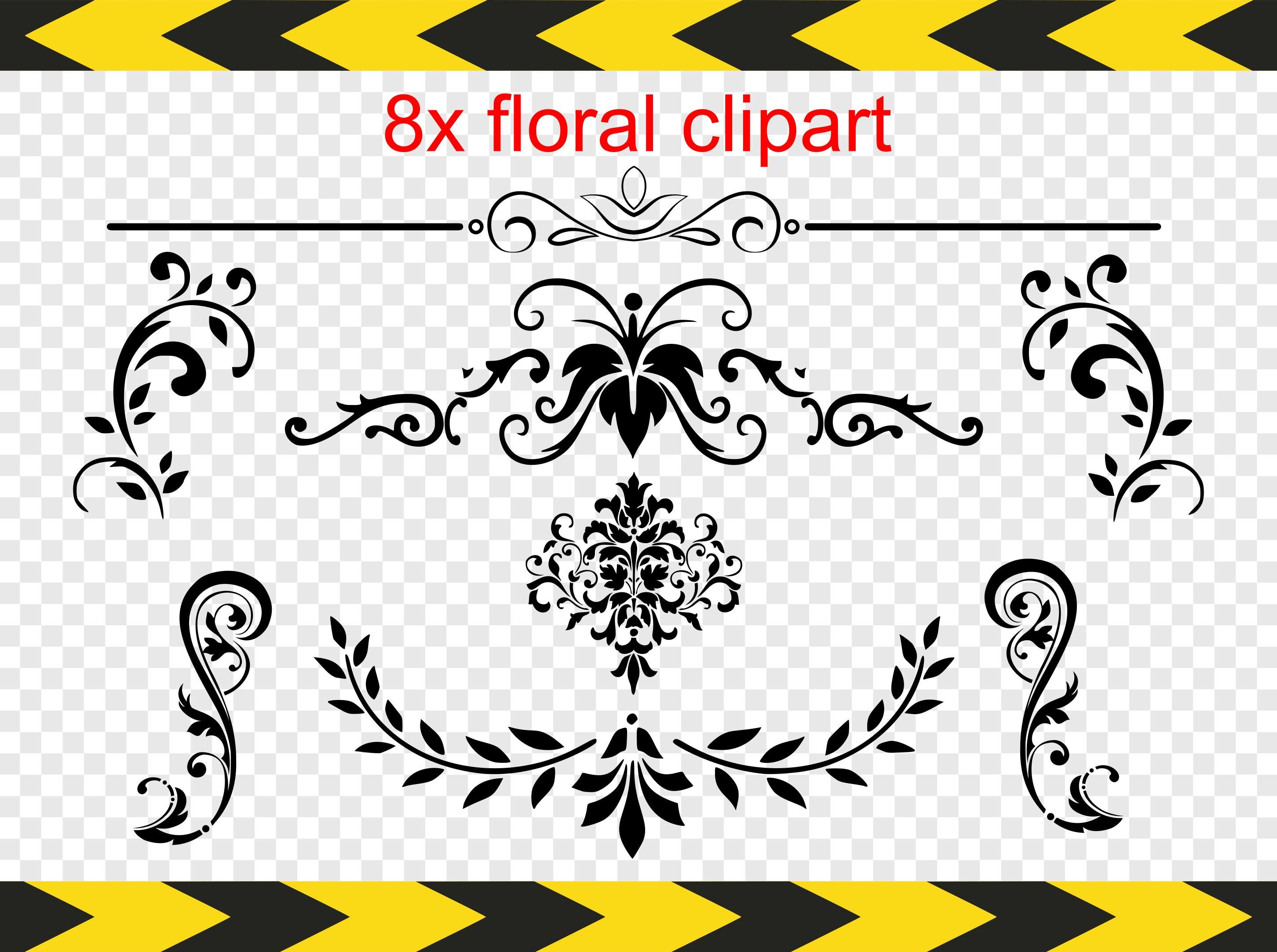 Wedding Floral Clipart Svg Clip Art Border Divider