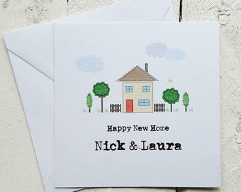 Personalised New home card - happy new home card - Handmade card - personalised - moving house card - new home card - first house card