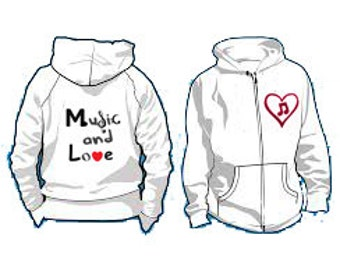 M&L zip-up hoodie