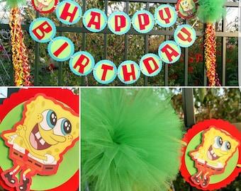 SpongeBob Birthday Banner