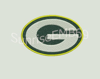 8 Sizes**Green Bay Football Embroidery design- 8 formats machine embroidery design - Instant Download machine embroidery pattern