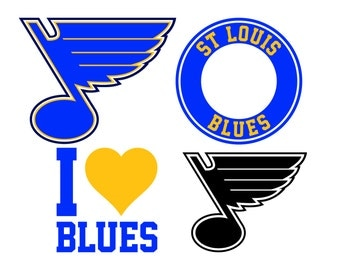 St Louis Blues Cut Files, St Louis Blues SVG Files, St Louis Blues Svg Cutting Files, DXF St Louis Blues Cuttable SVG File, Instant Download