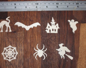 Set of seven halloween shapes in 1.5mm ply