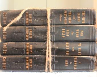 Set of 4 Vintage Ernest Hemingway Collier Edition