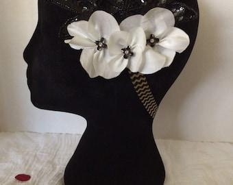 Elegant black sequin headband