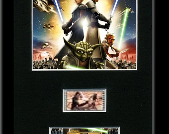 Star Wars The Clone Wars 35mm Mounted Film Cell Display