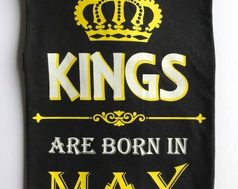 Kings Are Born In January, February, March, April, June, July, August, September, October, November, December, Birthday Shirt, Birth Month