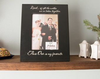 Wedding Father Daughter personalized frame 5x7