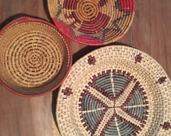 Handcrafted woven southwestern baskets
