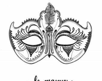 Le Masque Art Print