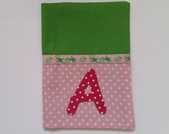 U notebook covers frogs pink green / manual work
