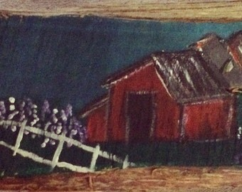 Upon A Barn In the Lilac Meadow