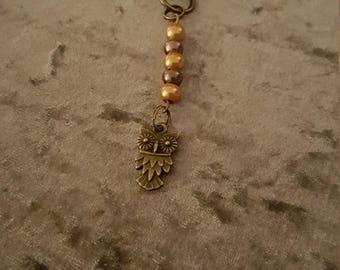 Owl key charm