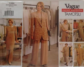 Uncut Vogue 1334 Career Wardrobe - Tamotsu Size 12 - 14 - 16