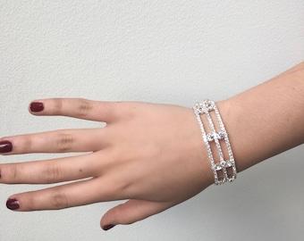 Glam Faux Diamon Bracelet- Kardashian, Beautiful, Glam Costume Jewelry