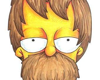 Grunge Homer - Simpsons Portrait