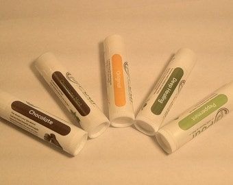 All Natural-Beeswax Chapstick-Lip Balm-Butter Flavors - Coconut Oil-Homemade Lip Balm Flavors 4pc Variety Pack