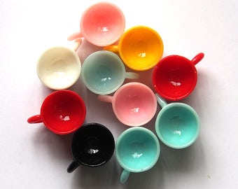 Resin Mug Cup Charms x 10