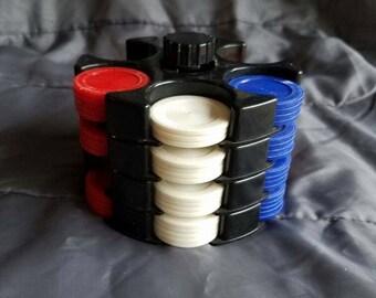 Mini poker chip and holder set