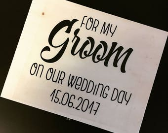 Personalised Grooms Gift Box, Wedding Day, Bride and Groom,