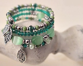 """Green Leaves"" bracelet"