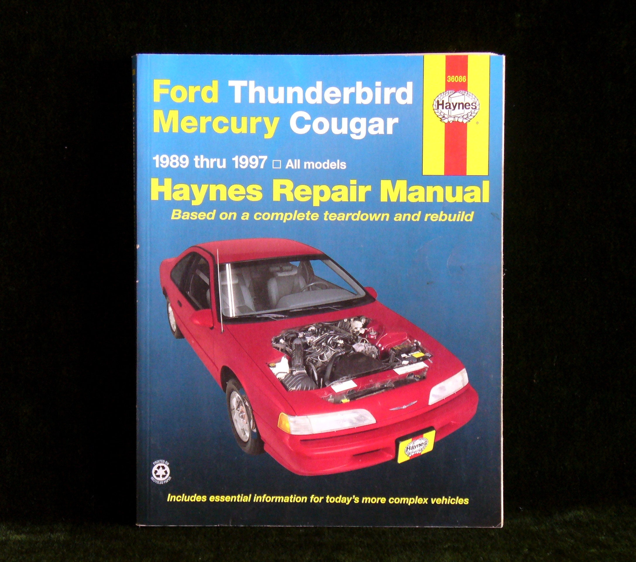 Details. Vintage Haynes Ford Thunderbird Mercury Cougar 1989 Thru 1997  Repair Manual ...