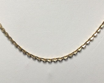 "Estate 22K Yellow Gold Chain Necklace 11.5 Grams 24"" Inches Long"