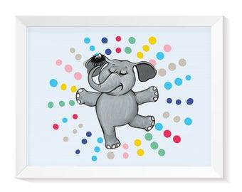 Elephant Good Vibes | Nursery Elephant Print | Elephant Print | Elephant Decor | Elephant Picture | Nursery Wall Art | Nursery Print