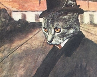 8x10 Degas Parody Giclee Print of Kitty Cat Factory Boss
