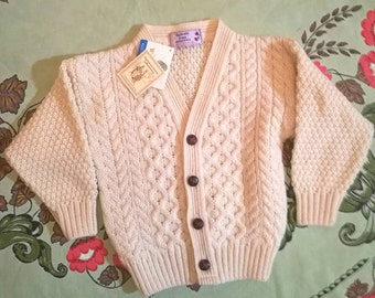 Vintage Scottish Child's Wool Sweater 3/4