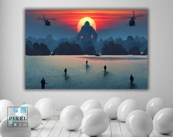 Kong Skull Island Movie Canvas Print Wall Hanging Framed Art
