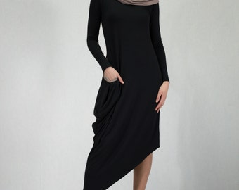 Casual Long Asymetrical Dress