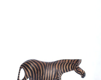 zebra wood carvings