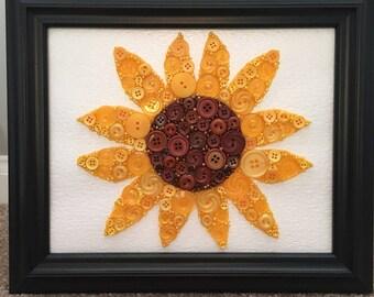 Sunflower Button Art