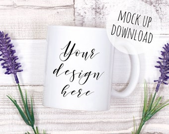 Styled Mug Mockup Photography, Laying Down Mug Mock Up, Rustic Styled Stock Photo
