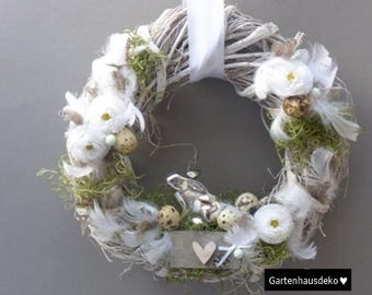 Silver Bunny Easter wreath *.