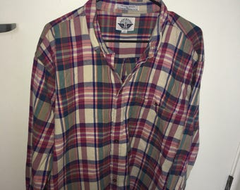 Vintage plaid flannel