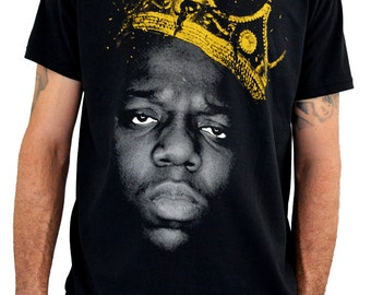 "Mens T-shirt ""NOTORIOUS B.I.G."" Water Colors Screen Print"