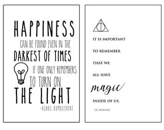 YOU PRINT - Harry Potter Print Duo 11x17 - Instant Download