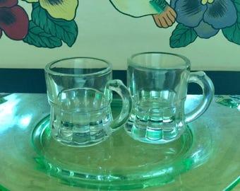 Vintage Beer Mug Shot Glasses