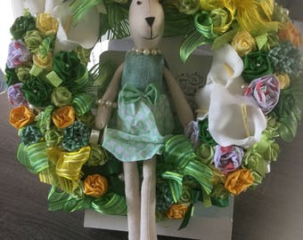 Easter, spring wreath