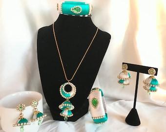 Silk thread jewelry