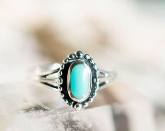 Turquoise Ring ~ Sterling Silver 925 ~ Handmade ~ Everyday ~Statement ~Stackable ~Tear Drop ~Gift for her ~Boho ~ Hippie ~Bohemian ~ MR049